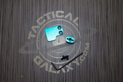 2 PC BUTTON FOR AR15 TEAL ANODIZED