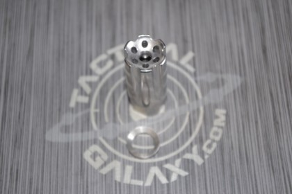 AR15 1/2X28 (5.56) Flash/Sound Forwarder, Stainless Steel