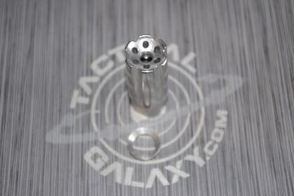 AR15 1/2X28 (5.56) Flash/Sound Forwarder, Stainless Steel
