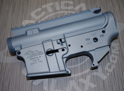 AR15 LOWER and UPPER COMBO TITANIUM BLUE CERAKOTE