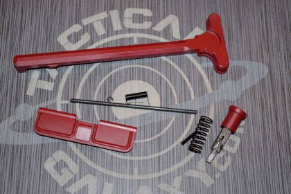 AR-15 CRIMSON RED CERAKOTE 3PC UPPER PARTS KIT