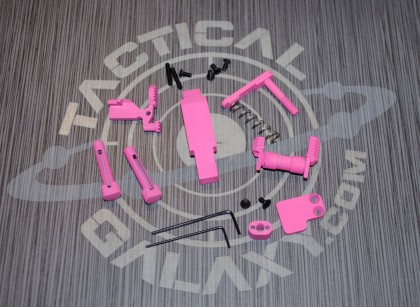 AR15 PINK CERAKOTE 6 PIECE ENHANCED LOWER KIT