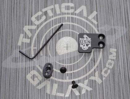 AR-15 2PC Oversized Magazine Extended Release Button - USN Anchor