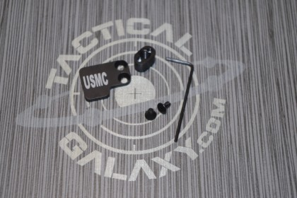 AR-15 2PC Oversized Magazine Extended Release Button - USMC