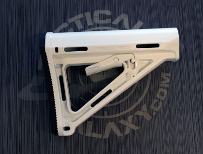 AR-15 White Cerakote MOE Carbine Stock