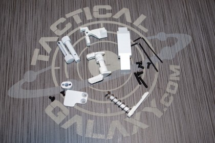 AR15 WHITE CERAKOTE 6 PIECE ENHANCED LOWER KIT