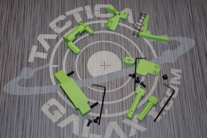 AR15 ZOMBIE GREEN CERAKOTE 6 PIECE ENHANCED LOWER KIT
