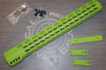 "AR-15 ZOMBIE GREEN CERAKOTE  15"" rail ( handguard )"