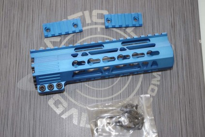 AR15 Blue Anodized CLAMP-ON KEYMOD FREE FLOAT HAND GUARD