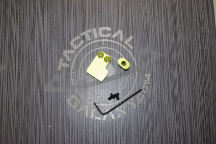 2 PC BUTTON FOR AR15 LIME GREEN ANODIZED