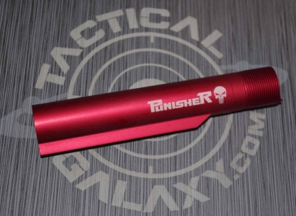 PUNISHER RED Anodized mil-spec  AR15 / M16 / M4  Buffer Extension Tube