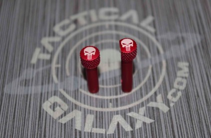 RED Anodized Punisher AR-15 Extended Takedown Pins