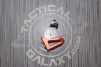 AR15 Orange Anodized Low Profile Hand Stop