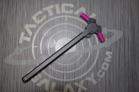 AR15 Ambidextrous Charging Handle with Pink Anodized Latches