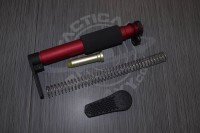 AR15 ANODIZED RED PISTOL GRIP Stock w/ Recoil Pad