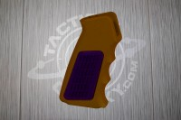 Brown Anodized AR15 Aluminum Pistol Grip With Rubber Insert