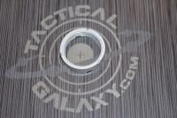 AR15 / AR10 CASTLE NUT FOR BUFFER WHITE CERAKOTE