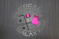 2 PC MAGAZINE BUTTON FOR AR15 PINK ANODIZED