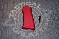 AR15 SLICK SIDE RED ANODIZED ALUMINUM PISTOL GRIP