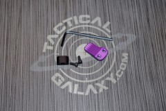AR 15 Purple Anodized AR EXTENDED MAGAZINE RELEASE