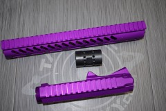"Anodized Blood Moon Purple AR-15 STRIPPED BILLET UPPER RECEIVER & 12"" ULTRALIGHT SERIES M-LOK HANDGUARD COMBO SET"