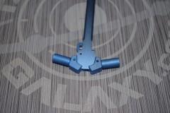 AR-15 Ambidextrous Charging Handle  Blue Anodized 3