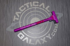 AR-15 Blood Moon Purple Anodized charging handle  With Custom Text or Logo.