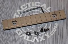 "Burnt Bronze Cerakote 5"" picatinny rail"