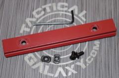 "Crimson Red Cerakote 5"" picatinny rail 2"
