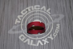 AR15 Red Anodized MilSpec Castle Nut Locking Nut For 223