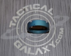 AR15 Teal Anodized MilSpec Castle Nut Locking Nut For 223