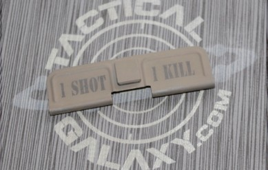 AR-15 FDE CERAKOTE ONE SHOT ONE KILL EJECTION PORT DUST COVER