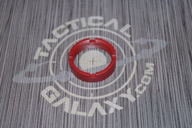 AR15 / AR10 CASTLE NUT FOR BUFFER TUBE 223 / LR 308 CRIMSON RED CERAKOTE