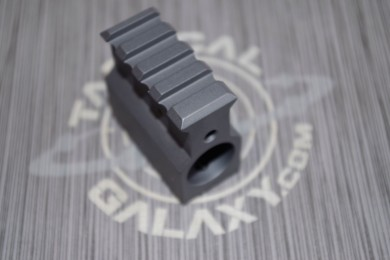 AR15 RAIL HEIGHT ADJUSTABLE GAS BLOCK .750 SNIPER GREY CERAKOTE