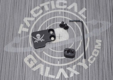 AR-15 2PC Oversized Magazine Extended Release Button - Jolly Rogers
