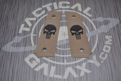 1911 FDE CERAKOTE PUNISHER GRIPS