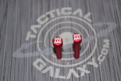 RED Anodized 300 AAC AR-15 Extended Takedown Pins