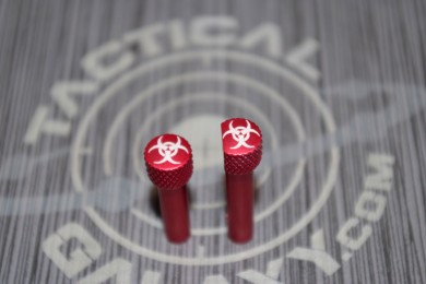 RED Anodized BIOHAZARD AR-15 Extended Takedown Pins