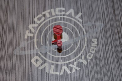AR15 ENHANCED BOLT CATCH RELEASE LEVER- CRIMSON RED CERAKOTE