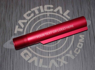 RED Anodized mil-spec  AR15 / M16 / M4  Buffer Extension Tube  CUSTOM TEXT OR LOGO
