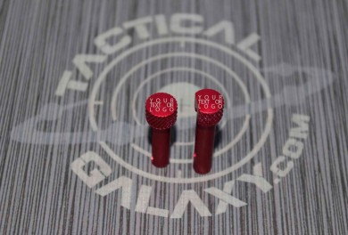Red Anodized AR-15 Extended Takedown Pins CUSTOM TEXT OR LOGO