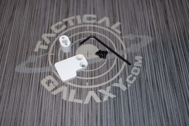 AR15 2 PC BUTTON WHITE CERAKOTE-BLANK