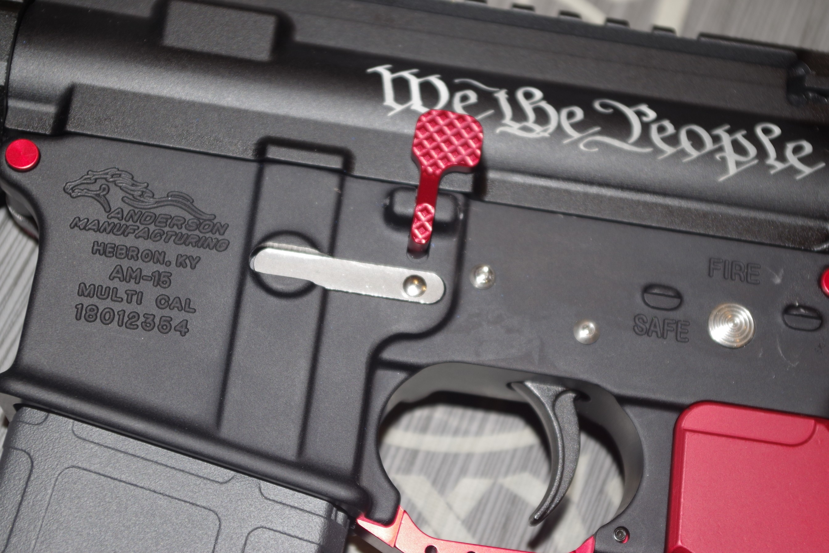 Ar 15 Red Anodized Extended Bolt Catch