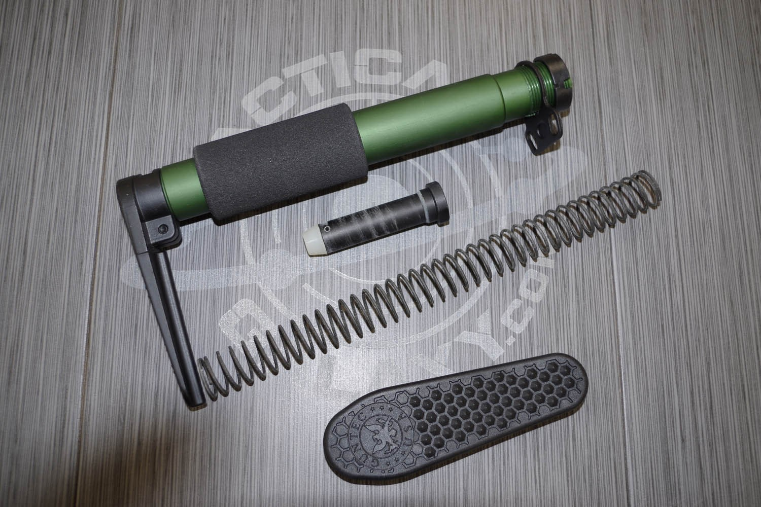 Ar15 Anodized Green Aen Pistol Grip Stock W Recoil Pad