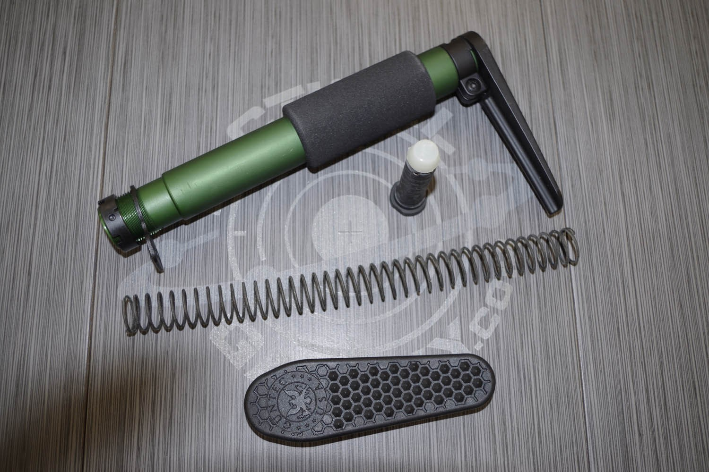 Ar15 Anodized Green Aen Pistol Grip Stock W Recoil Pad