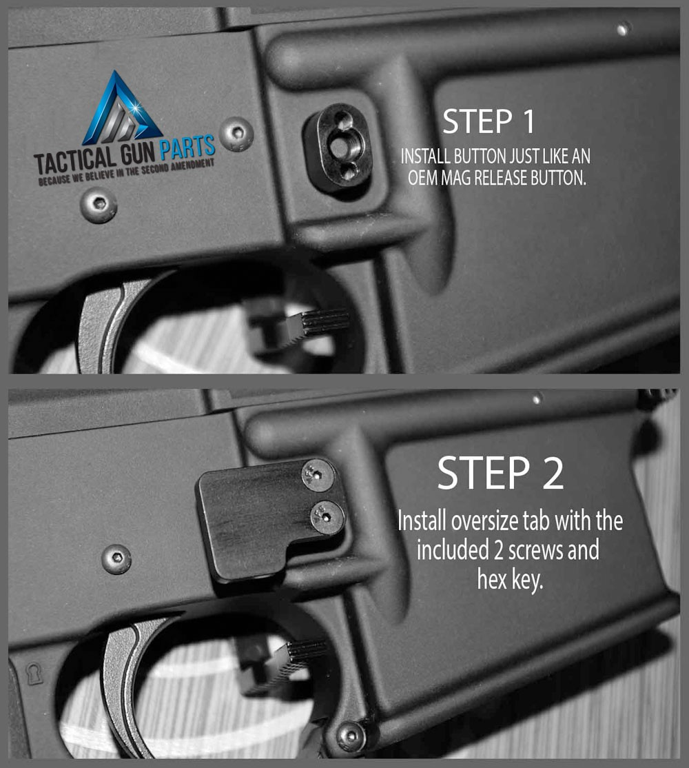 Ar 15 2pc Oversized Magazine Extended Release Button