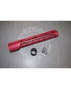 """AR-15 """" GEN 2 12"""" AIR-LOK SERIES M-LOK COMPRESSION FREE FLOATING HANDGUARD RED ANODIZED"""