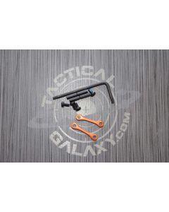 AR15 / AR-10 Orange Anodized Anti Walk Hammer Trigger Pins