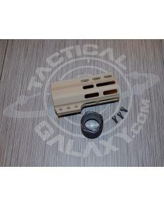 "Tactical Galaxy AR-15 Crimson Red Cerakote 4"" Clamp on Handguard"