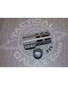 "Tactical Galaxy AR-15 Tungsten Cerakote 4"" Clamp on Handguard"